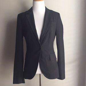 Zara Basic Lined Blazer Charcoal Grey Size 4